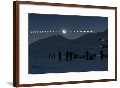 Solar Eclipse Sequence in Svalbard on March 20, 2015-THANAKRIT SANTIKUNAPORN-Framed Art Print