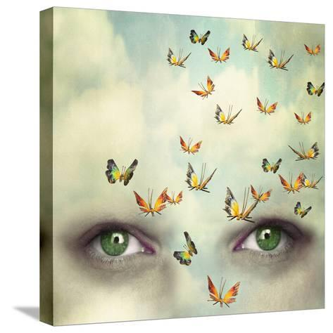 Two Eyes with the Sky and So Many Butterflies Flying on the Forehead-Valentina Photos-Stretched Canvas Print
