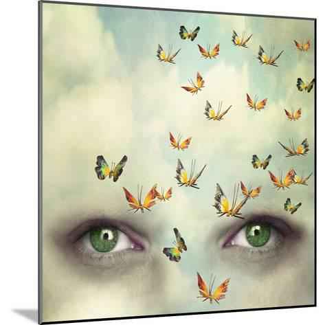 Two Eyes with the Sky and So Many Butterflies Flying on the Forehead-Valentina Photos-Mounted Photographic Print