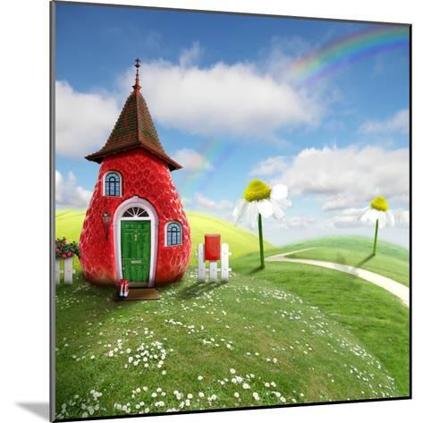 Nice Picture-Collage with a Pretty Strawberry Shack- Oxa-Mounted Photographic Print