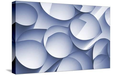 Curly Paper Abstract-Daniel M Nagy-Stretched Canvas Print