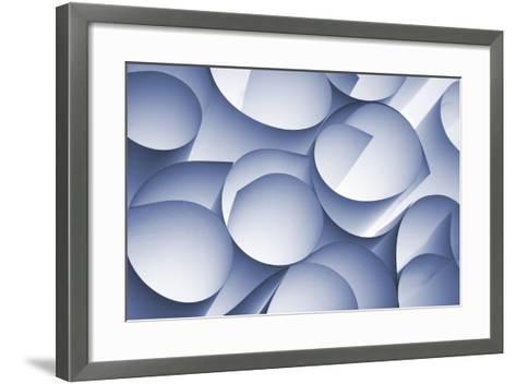Curly Paper Abstract-Daniel M Nagy-Framed Art Print
