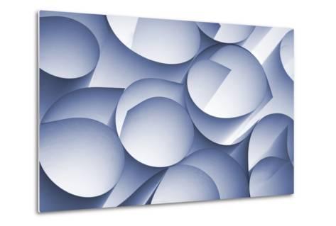 Curly Paper Abstract-Daniel M Nagy-Metal Print