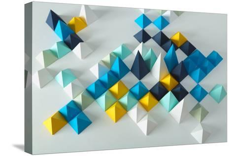 Abstract Geometric Background- elettaria-Stretched Canvas Print