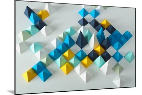 Abstract Geometric Background- elettaria-Mounted Photographic Print