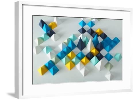 Abstract Geometric Background- elettaria-Framed Art Print