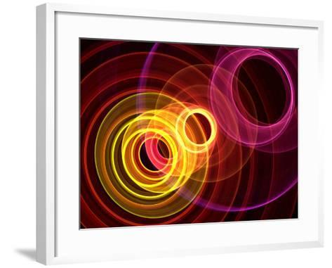 Colorful Abstract Background- oriontrail-Framed Art Print