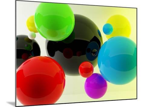 3D Balls- oldm-Mounted Photographic Print