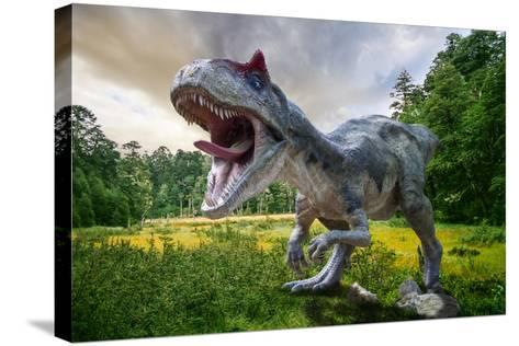 Dinosaur-Lukas Uher-Stretched Canvas Print