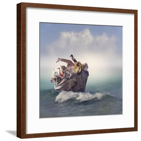 Wild Animals and Birds in an Old Boat-Svetlana Foote-Framed Art Print