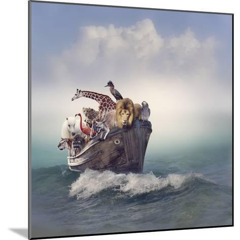 Wild Animals and Birds in an Old Boat-Svetlana Foote-Mounted Photographic Print