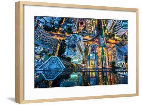 Top View of Bangkok , Thailand-Thanapol Tontinikorn-Framed Art Print