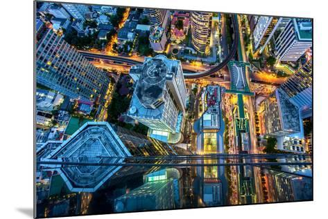 Top View of Bangkok , Thailand-Thanapol Tontinikorn-Mounted Photographic Print