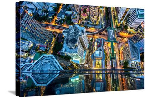Top View of Bangkok , Thailand-Thanapol Tontinikorn-Stretched Canvas Print