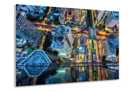 Top View of Bangkok , Thailand-Thanapol Tontinikorn-Metal Print