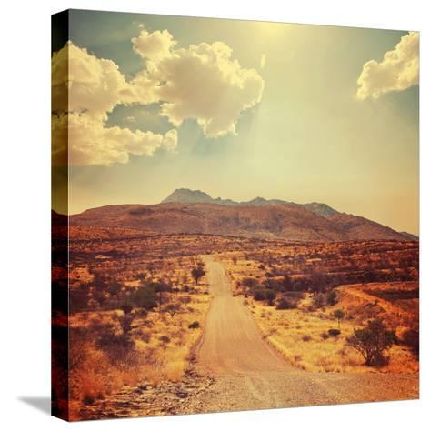 Namibian Landscape-Galyna Andrushko-Stretched Canvas Print