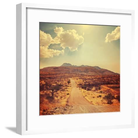 Namibian Landscape-Galyna Andrushko-Framed Art Print