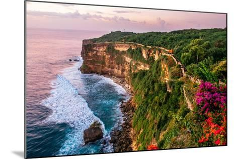 Scenic Landscape of Fantastic Sunset at Uluwatu Bali. Travel Bali, Indonesia. Tranquility of Sunset-Dmitry Polonskiy-Mounted Photographic Print