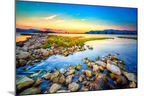Beautiful Summer Sunset over the Rocky Shore by the Sea. HDR Image- nomadFra-Mounted Photographic Print