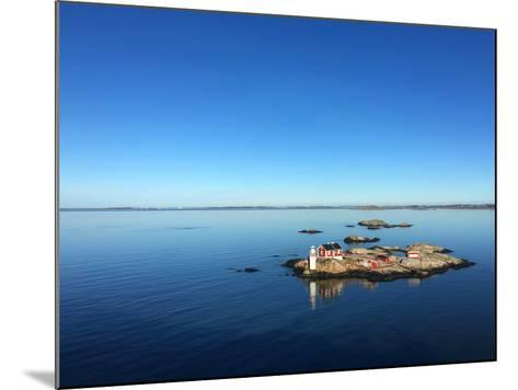 Seascape of a Swedish Fjord with Little Lighthouse on a Rocky Island- adiekoetter-Mounted Photographic Print
