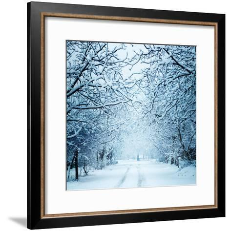 Winter Landscape-Triff-Framed Art Print
