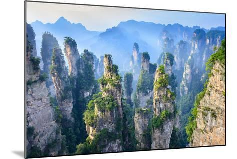 Landscape of Zhangjiajie. Taken from Old House Field. Located in Wulingyuan Scenic and Historic Int- aphotostory-Mounted Photographic Print
