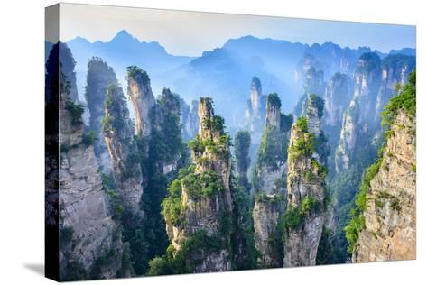 Landscape of Zhangjiajie. Taken from Old House Field. Located in Wulingyuan Scenic and Historic Int- aphotostory-Stretched Canvas Print