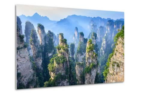 Landscape of Zhangjiajie. Taken from Old House Field. Located in Wulingyuan Scenic and Historic Int- aphotostory-Metal Print