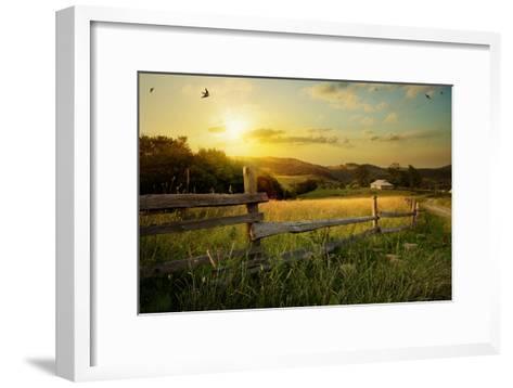 Art Rural Landscape. Field and Grass-Konstanttin-Framed Art Print