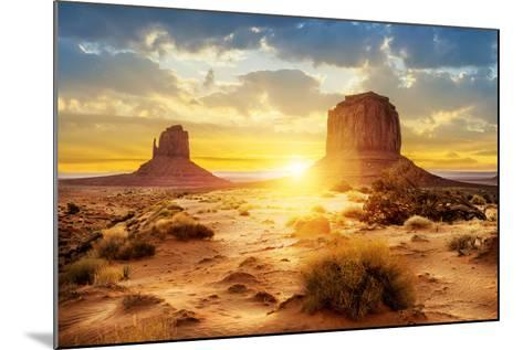 Sunset at the Sisters in Monument Valley, USA- ventdusud-Mounted Photographic Print