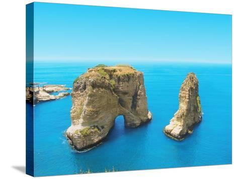 Pigeon Rocks - Symbol of Lebanon, Capital Beirut- dimmitrius-Stretched Canvas Print