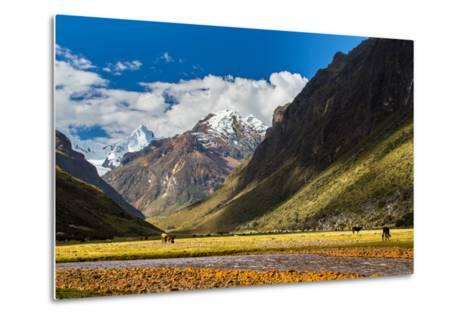 Mountain Landscape in the Andes, Peru, Cordiliera Blanca-Calin Tatu-Metal Print