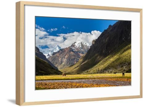 Mountain Landscape in the Andes, Peru, Cordiliera Blanca-Calin Tatu-Framed Art Print