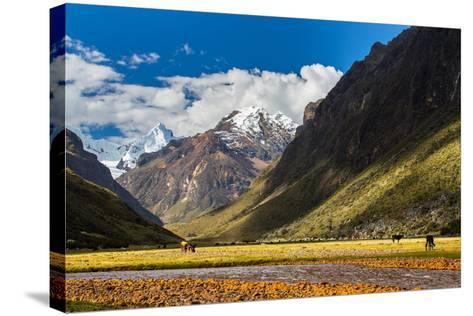 Mountain Landscape in the Andes, Peru, Cordiliera Blanca-Calin Tatu-Stretched Canvas Print