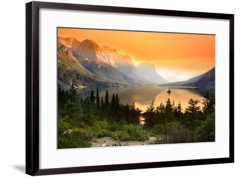 Wild Goose Island in Glacier National Park-SNEHIT-Framed Art Print