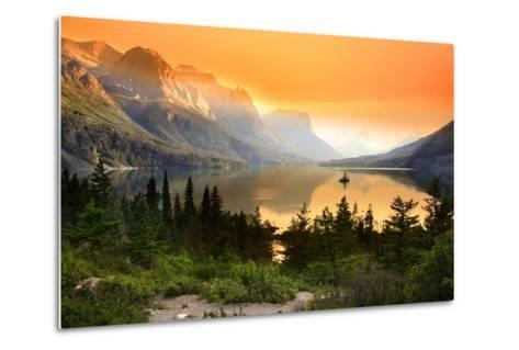 Wild Goose Island in Glacier National Park-SNEHIT-Metal Print