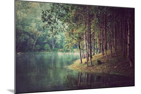 Forest Background ,Vintage Style- Nonnakrit-Mounted Photographic Print