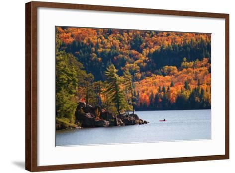 Kayaking in Algonquin Provincial Park, Ontario, Canada- Aivoges-Framed Art Print