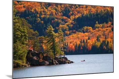Kayaking in Algonquin Provincial Park, Ontario, Canada- Aivoges-Mounted Photographic Print