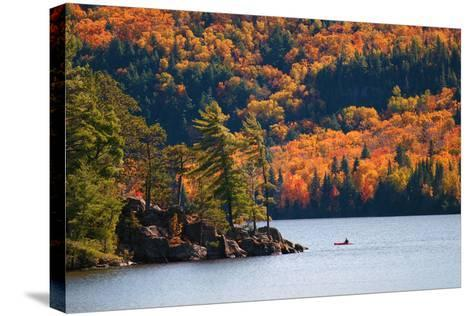 Kayaking in Algonquin Provincial Park, Ontario, Canada- Aivoges-Stretched Canvas Print