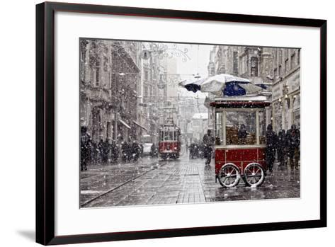 Traditional Fast Food of Istanbul on Beyoglu-mahmut enc-Framed Art Print
