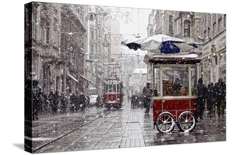 Traditional Fast Food of Istanbul on Beyoglu-mahmut enc-Stretched Canvas Print