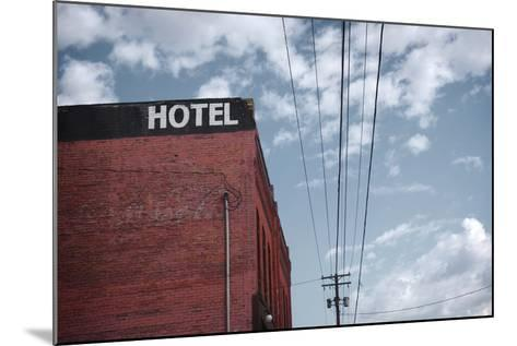 Old Dilapidated Brick Motel with Cloudy Sky- J D S-Mounted Photographic Print
