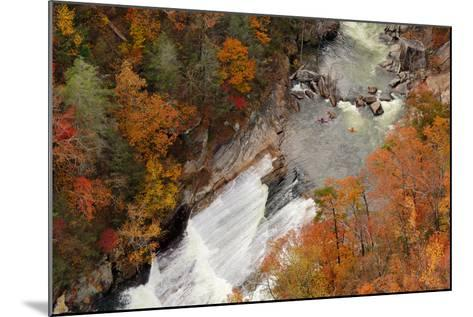 Kayakers Contemplate Going down a Rapid Viewed from above at Tallulah Gorge, Georgia.-ESB Professional-Mounted Photographic Print