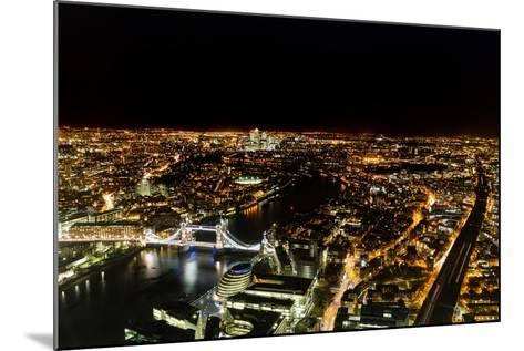 Cityscape of London at Night-Circumnavigation-Mounted Photographic Print