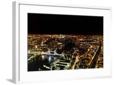 Cityscape of London at Night-Circumnavigation-Framed Art Print