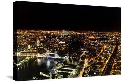 Cityscape of London at Night-Circumnavigation-Stretched Canvas Print