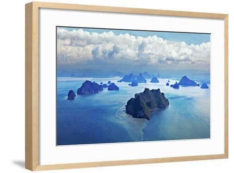 Beauty Islands like on Mars, Aerial View from the Plane-saiko3p-Framed Art Print