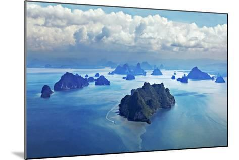 Beauty Islands like on Mars, Aerial View from the Plane-saiko3p-Mounted Photographic Print