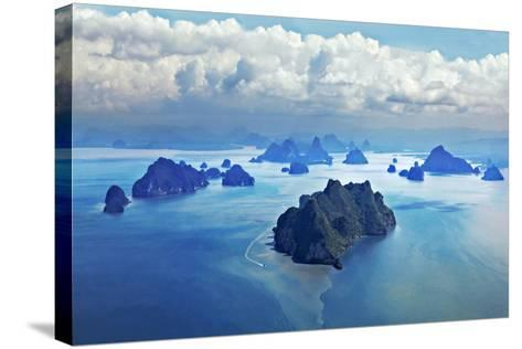 Beauty Islands like on Mars, Aerial View from the Plane-saiko3p-Stretched Canvas Print